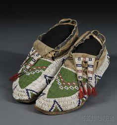 Lakota moccasins 19th century.