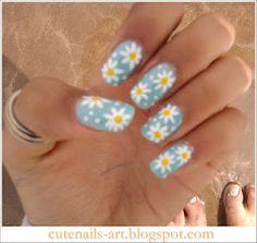 maroc-cutenails-art: spring nails art : Daisy flowers