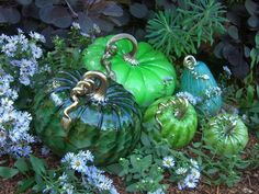 On October weekends, you are invited to visit Cohn-Stone Studios presenting a beautiful fall display of hundreds of glass pumpkins of all shapes, colors and sizes. Pink Pumpkins, Glass Pumpkins, Painted Pumpkins, Vases, Halloween Doodle, Glass Paperweights, Yard Art, Hand Blown Glass, Fall Crafts
