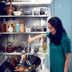 For London chef and TV personality Judy Joo, Korean food's strong flavors require a powerful, well-stocked kitchen. Best Kitchen Designs, Best Chef, Slow Cooker Soup, Home Chef, Korean Food, Cool Kitchens, Kitchen Appliances, Dishes, Chefs