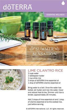 doTERRA Lime Cilantro Rice Recipe [ OilsNetwork.com ] #recipe #health #wealth