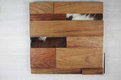 Texas Mesquite with Leather accents - 3D Wall by Woodwright Dallas