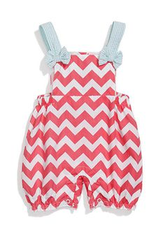 Nursery Rhyme� Sleeveless Chevron Printed Sunsuit