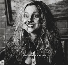 """(gif) """"This wasn't my idea, it was Crowley's, and it's just another reason I wanna stab him in the face."""" - Meg"""