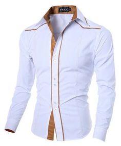 Hot 2018 New Brand Men Casual shirt Slim Fashion Men Shirts Long-Sleeved Chemise Homme Solid Mens dress shirt Camisa Masculina Long Sleeve Shirt Dress, Long Sleeve Shirts, Dress Shirts, Dress Long, Casual Shirts For Men, Men Casual, Men Shirts, Shirt Men, Collar Shirts