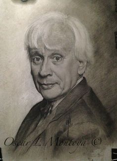 """""""Rodolfo Llinas '  Life Size. Charcoal and White Chock on toned paper. 16"""" x 20"""""""