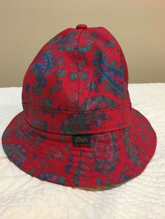 b7fd7fe1457 Obey bucket Hat Floral Pattern Red Cotton  fashion  clothing  shoes   accessories