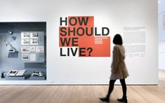 MoMA The Museum of Modern Art: How do the minds at MoMA view fashion, architectural and exhibition design? On May our creatives . Exhibition Display, Museum Exhibition, Environmental Graphics, Environmental Design, Booth Design, Banner Design, Office Wall Design, Signage Display, Mural Wall Art