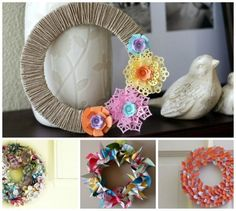 DYI ways to make over 80 wreaths for different occasions.  Pictures for each one and a note of advice.