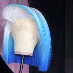 Cute Hair Colors, Pretty Hair Color, Wig Styles, Curly Hair Styles, Natural Hair Styles, Braid Styles, Creative Hair Color, Blue Wig, Colored Wigs