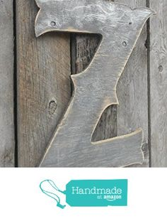 "22"" X-Large Western Style Letter ""Z"" Shabby Chic Rustic Wooden Charcoal & Silver- A B C D E F G H I J K L M N O P Q R S T U V W X Y Z from Americana Signs https://www.amazon.com/dp/B015M55WFU/ref=hnd_sw_r_pi_dp_v3jGwbPVMEKRP #handmadeatamazon"