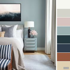 Killer Color Palettes To Try If You Love Blue Bedrooms Home