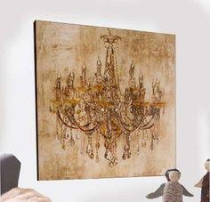 Bild auf Leinwand im Metall Rahmen Blume Vintage Wand Deko Geschenk 80x80