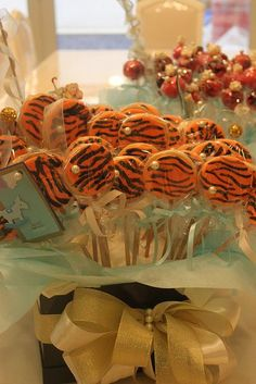 tiger striped party favors   Tiger Centerpieces   Tiger Print party favor cookie 30227348   Flickr ...
