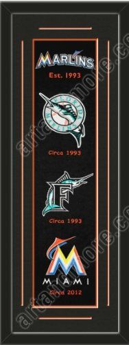 Heritage Banner Of Miami Marlins With Team Color Double Matting-Framed Awesome & Beautiful-Must For A Championship Team Fan! Most MLB Team Banners Available-Plz Go Through Description & Mention In Gift Message If Need A different Team Art and More, Davenport, IA http://www.amazon.com/dp/B00F2CD1OS/ref=cm_sw_r_pi_dp_04VJub1DKAVY2