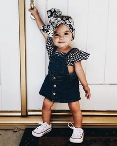25 Gorgeous Baby Girl Names That Suit Any Personality - Maeci Bychurch - Kind mode - Baby Clothes Fashion Kids, Baby Girl Fashion, Toddler Fashion, School Fashion, Fashion Fall, Fashion 2017, Babies Fashion, Trendy Fashion, Young Fashion