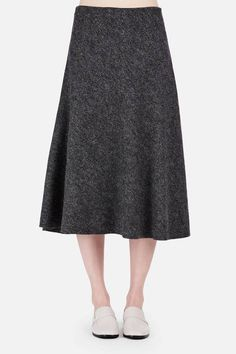 Protagonist — Skirt 08 Flare Skirt Charcoal — THE LINE