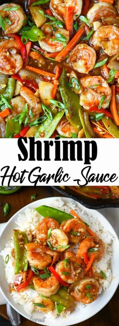 This Shrimp with Hot Garlic Sauce is family approved. Comes together in just minutes, so its perfect for those busy weeknight meals. Shrimp Recipes For Dinner, Prawn Recipes, Shrimp Recipes Easy, Seafood Dinner, Sauce Recipes, Seafood Recipes, Easy Dinner Recipes, Asian Recipes, Cooking Recipes