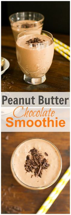 This vegan and gluten-free chocolate peanut butter smoothie is very creamy, thick, rich, absolutely tasty and it is made with only five ingredients. primaverakitchen.com