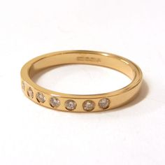 18K yellow gold band and diamonds eternity ring #handmade #London @catherinemarche http://shop.catherinemarche-designs.com/
