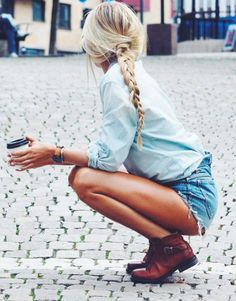 chambray + cutoffs