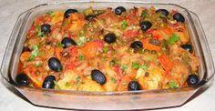Ghiveci de legume Macaroni And Cheese, Meat, Chicken, Ethnic Recipes, Food, Mac And Cheese, Meals, Yemek, Buffalo Chicken
