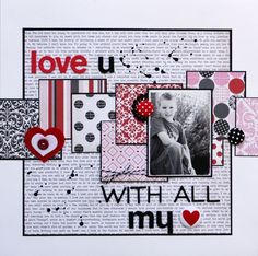 red and black wedding scrapbook layouts   ... scrapbook layout by Stacey Apps #diy #crafts #wedding www