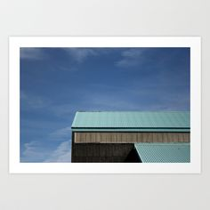 """""""Blue Roof"""" by Shy Photog - $19.00 Straight Photography, Blue Roof, Roof Repair, Pergola, Outdoor Pergola"""