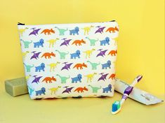 Your place to buy and sell all things handmade Dinosaur Gifts, Makeup Bags, Wash Bags, Toiletry Bag, Printing On Fabric, Trending Outfits, Unique Jewelry, Handmade Gifts, Etsy