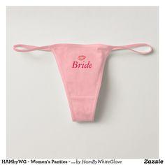 HAMbyWG - Women s Panties - Bride Wedding Underwear 3b1b92a14