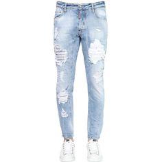 Dsquared2 Men 22cm Tidy Biker Destroyed Denim Jeans (17 170 UAH) ❤ liked on…
