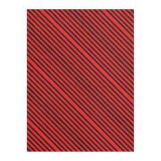 #stripes - #Ruby Black Fleece Blanket