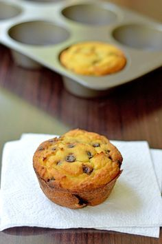 A nearly sugar-free Chocolate Chip Coconut Flour Muffins recipe that is grain free, low carb, and easy to make. A quick morning breakfast, or an easy snack! Low Carb Sweets, Low Carb Desserts, Low Carb Recipes, Dessert Recipes, Diabetic Sweets, Free Recipes, Healthy Recipes, Sugar Free Chocolate Chips, Chocolate Chip Recipes