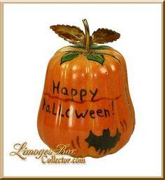 Carved Jack-O-Lantern Pumpkin Limoges box (Beauchamp)
