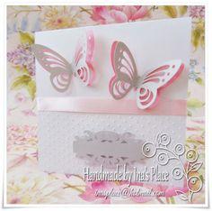 Ina's Place Invitations & Party Supplies: Invitación Bautizo - Vuelan las Mariposas!!