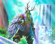 View an image titled 'Malfurion Stormrage Art' in our Hearthstone: Heroes of Warcraft art gallery featuring official character designs, concept art, and promo pictures. World Of Warcraft Characters, Fantasy Characters, Dnd Characters, Hearthstone Heroes Of Warcraft, Arte Grunge, Art Warcraft, Illidan Stormrage, Elf Druid, Night Elf