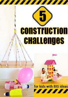Construction based challenges can be excellent projects for encouraging children to think creatively, solve problems and express their own ideas using practical materials.