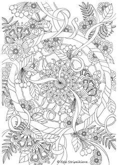 Цветы #раскраски #раскраски_для_взрослых #Антистресс #дудл_раскраски #арттерапия #сложные_раскраски