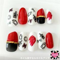 ネイル デザイン 画像 1549131 白 赤 黒 ブランド柄 その他 オールシーズン バレンタイン デート