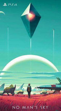 1- Copertina videogioco No Mans Sky 2- presa dal sito del videogioco 3- copertina digitale / copia fisica del disco 4- mi piace molto lutilizzo che è stato fatto del tratto e soprattutto dei colori, mi trasmette un forte senso di quiete e contemporaneamente grande curiosità verso ciò che cè da scoprire