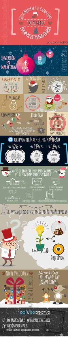 Cómo mejorar tus campañas en Redes Sociales en Navidad. #infografia