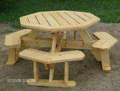 Deluxe Octagon Picnic Table How to Plan by MikesPlans on Etsy