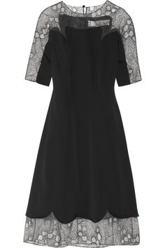 Lela Rose lace-trimmed stretch-sateen dress, $2719.18