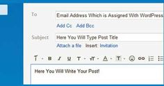 How to Publish Blog Post by Email in WordPress?