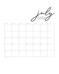 Free Printable 2020 Minimal Calendar - The Cottage Market Kids Planner, Daily Planner Printable, Free Printable Calendar, Calendar Pages, 2021 Calendar, Monthly Planner, Free Printables, Planner Diy, December Calendar