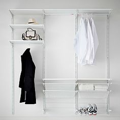 Ikea Algot Clothes Storage System - maybe for the third floor closet? and/or kids closets? Ikea Closet Storage, Ikea Closet System, Wardrobe Storage, Laundry Room Organization, Wall Storage, Bedroom Storage, Open Wardrobe, Laundry Rooms, Wardrobe Ideas