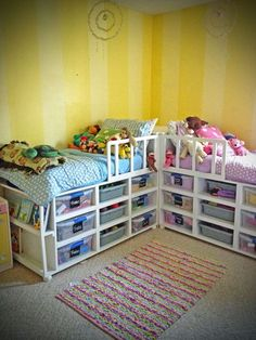 From A to Being: DIY Toddler Storage Beds