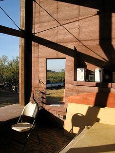 Rammed Earth House - Bedroom Windows