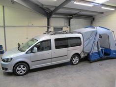 Silver, 2014, '14' VW Caddy Maxi Camper, 2.0TDI Bluemotion, Stop/Start, 6 speed Manual. Up to 2 to