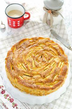 TORTA DI MELE AL FARRO LIGHT E SENZA BURRO (CON TANTISSIME MELE!) - La Penisola del Gusto Apple Pie, Sweet, Desserts, Food, 3, Postres, Deserts, Apple Pies, Hoods